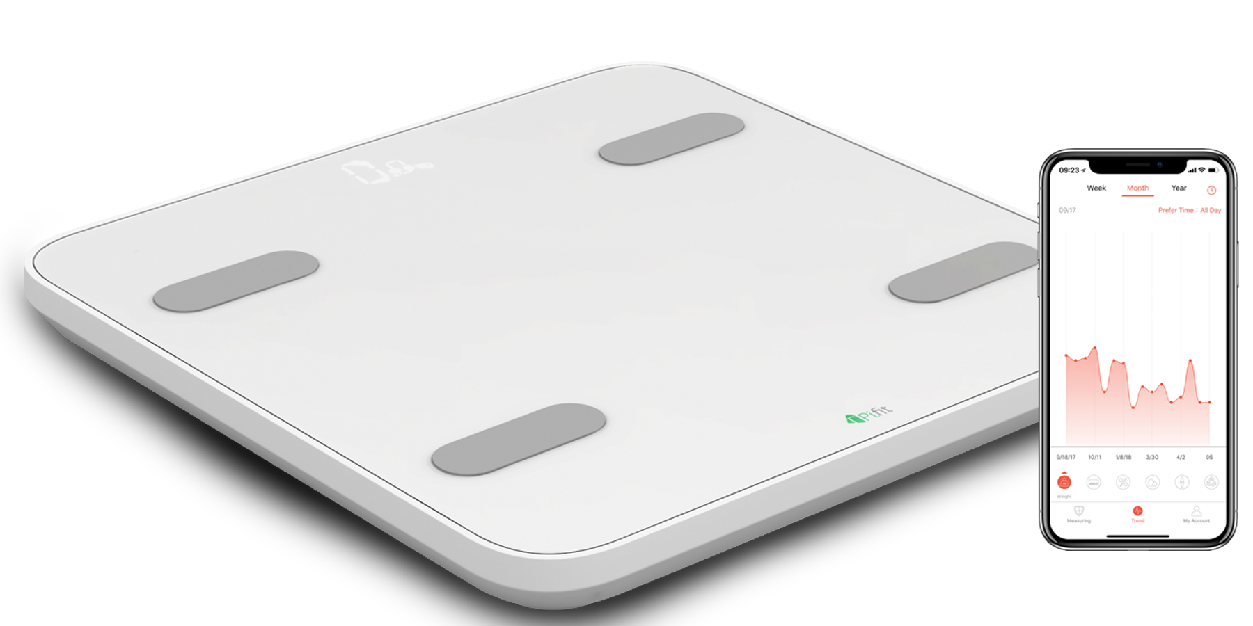 PiFit Smart Body Fat Scale - Smart weighing technology